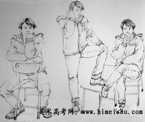 清华美院06年速写试卷(8)
