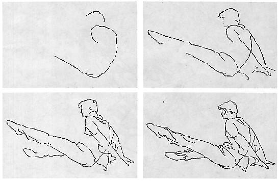 动态人物速写的作画步骤