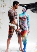国外最新人体彩绘  女人肉体上的浓墨重彩  艺术