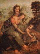 世界名画  达·芬奇《圣母与圣安娜》