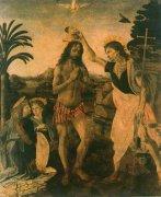 世界名画  达·芬奇《基督受洗》