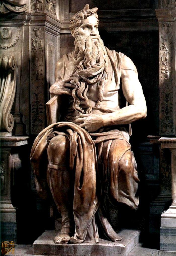 世界名画  米开朗基罗《摩西像》