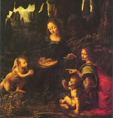 世界名画  达·芬奇《岩间圣母》