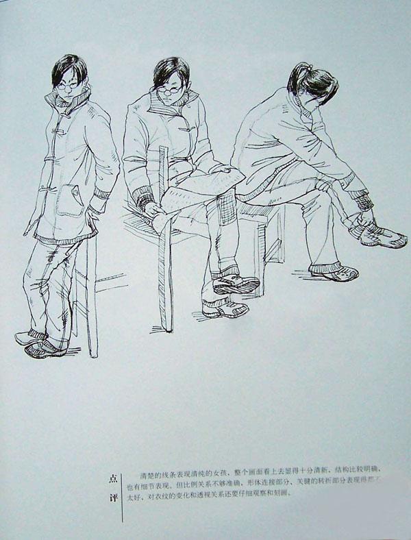 2006年清华大学美术学院教授点评优秀速写考卷_画室