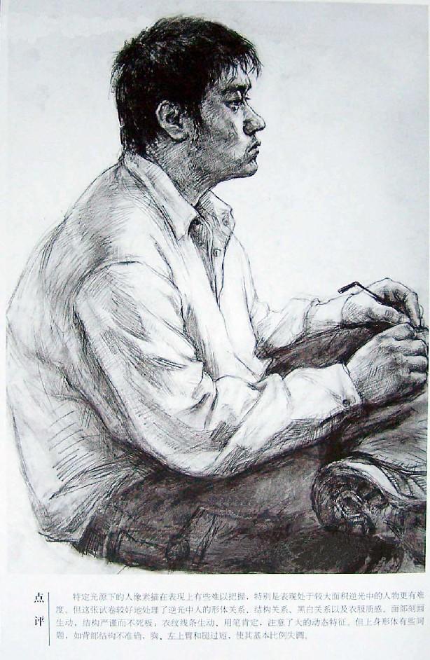 2006年清华大学美术学院素描点评优秀考卷