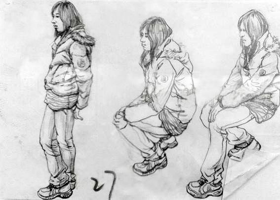 2008年天津美术学院速写优秀考卷