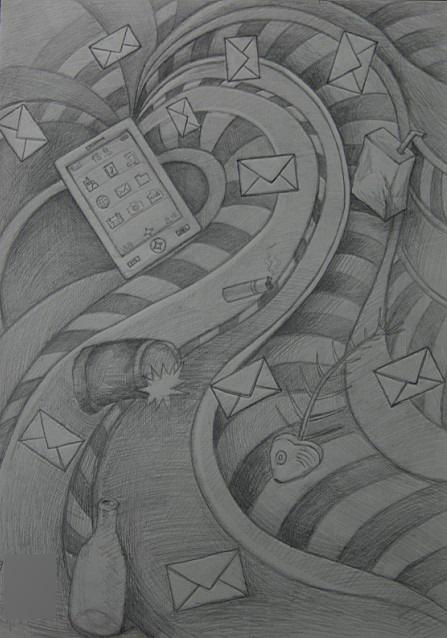 广西艺术学院优秀创意素描真题下载