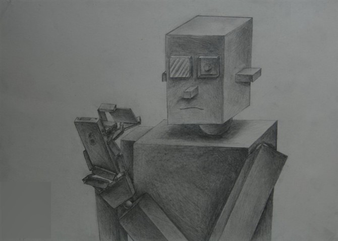 广西艺术学院设计类创意素描高分试卷_画室排