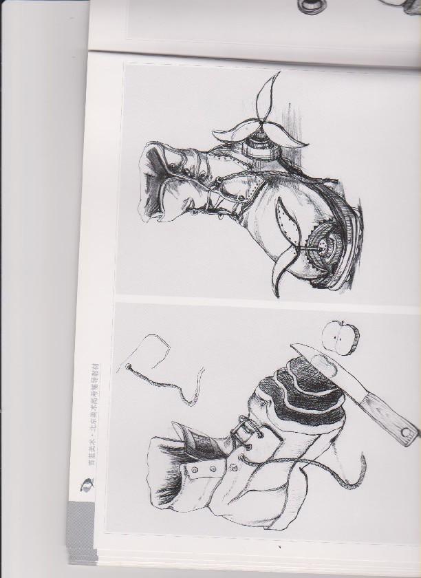 2005年北京服装学院设计类速写校考考试作品集图片
