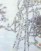 国画之近景冬树双勾法