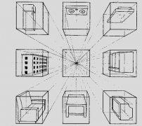 素描中正六面体的平行透视规律