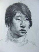 2005年中国美术学院半身人物素描像高分校考考卷
