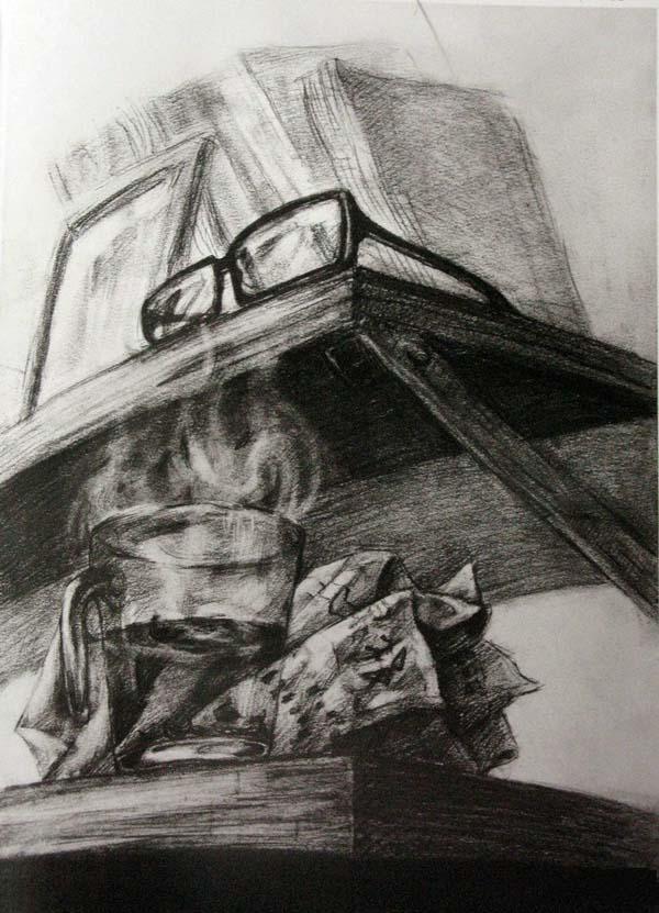 清华大学美术学院2010年设计素描高分校考考卷