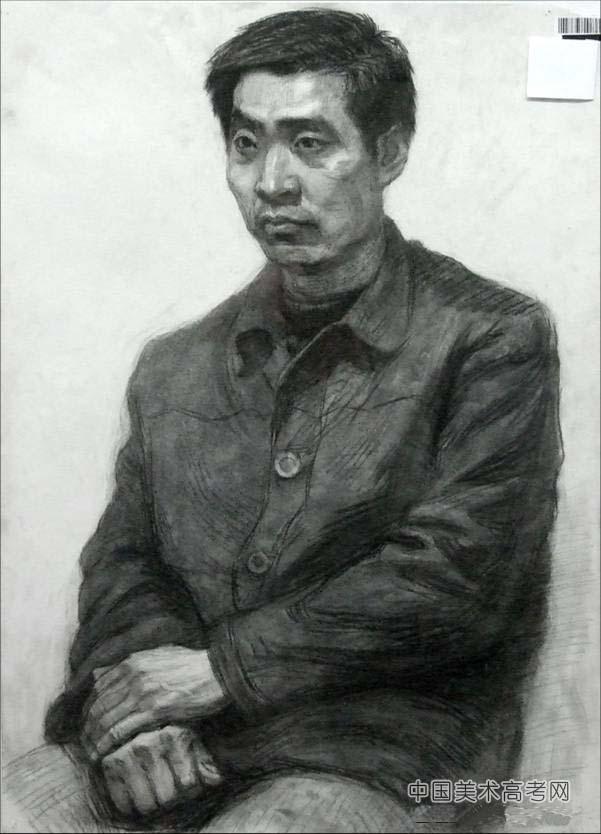 2015年中国美术学院人物素描高分校考考卷