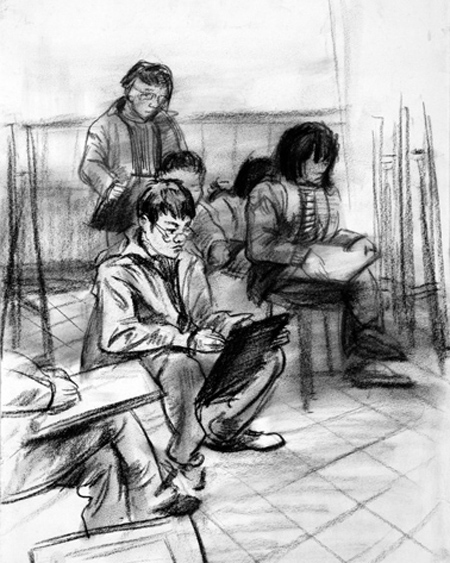 2016年鲁迅美术学院速写考试第一名作品欣赏_速写考试题_鲁迅美术学院_美术试卷_北京美术培训学校 美术网