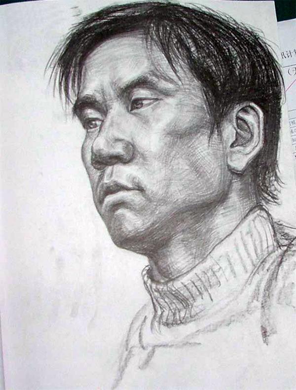 2005年天津美术学院高分素描校考试卷欣赏
