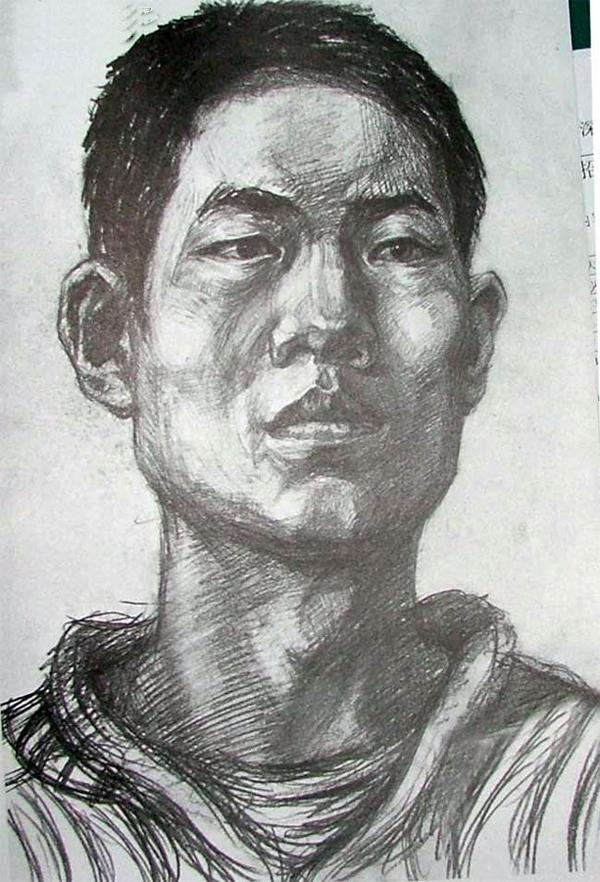 2004年天津美术学院优秀头像素描考卷