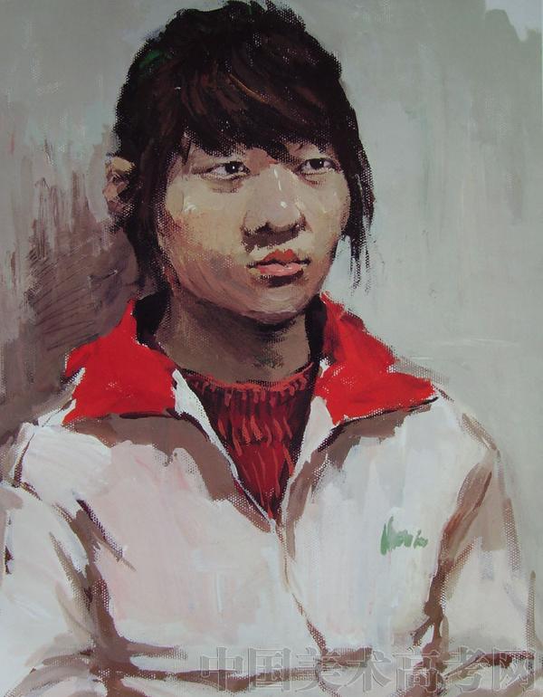 2010年鲁迅美术学院优秀半身人物水彩画考试卷_色彩卷
