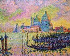 法国新印象派点彩派创始人保罗·西涅克油画作品
