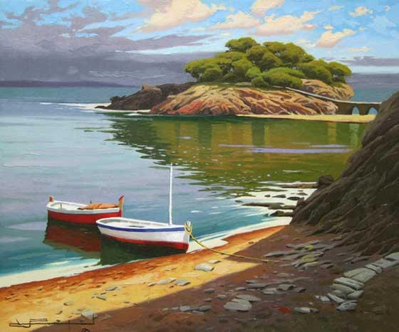 西班牙画家拉蒙.普霍尔风景油画作品欣赏