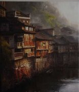 刘烽风景油画作品欣赏
