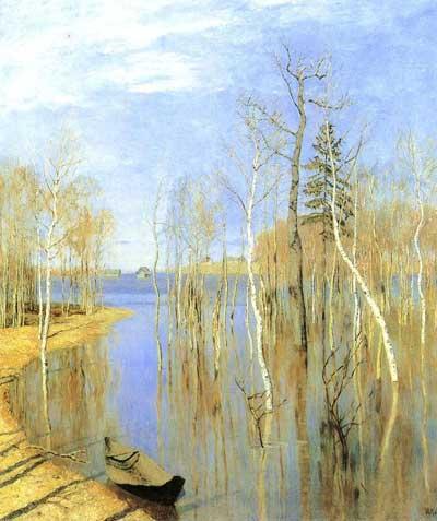 俄罗斯著名画家列维坦的风景油画赏析