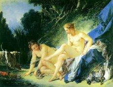 世界名画  布歇《浴后的狄安娜》