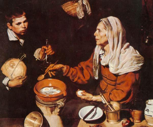 世界名画  (西)委拉斯开兹《纺织女》