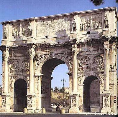 西方早期著名浮雕艺术—君士坦丁凯旋门