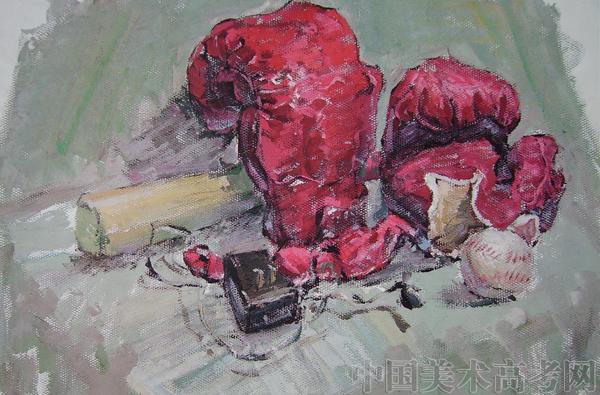 2008年鲁迅美术学院静物水彩画高分作品集