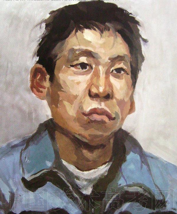 鲁迅美术学院2008年校考半身色彩像试卷赏析