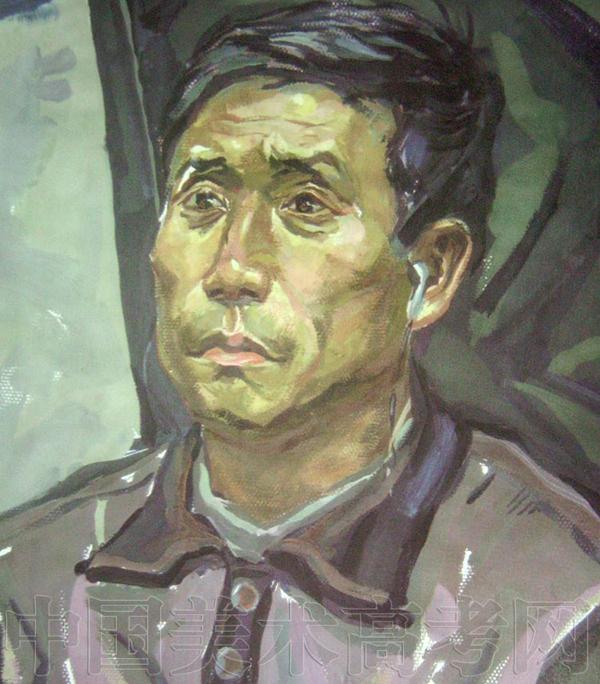鲁迅美术学院2008年头像水粉画考试作品